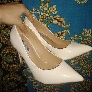 Steve Madden Daisie White Patent Heels